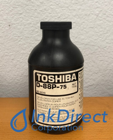 1 Bottle - Genuine Toshiba D88P75 D-88P-75 Developer Black BD 8510 Developer , Toshiba - Copier BD 8510