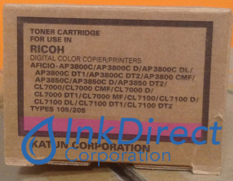 Compatible Replacement For Ricoh 885374 888036 Type 105 Toner Cartridge Magenta