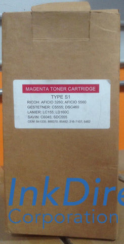 Compatible Replacement For Ricoh 888370 888374 Type S1 / S2 Toner Cartridge Magenta