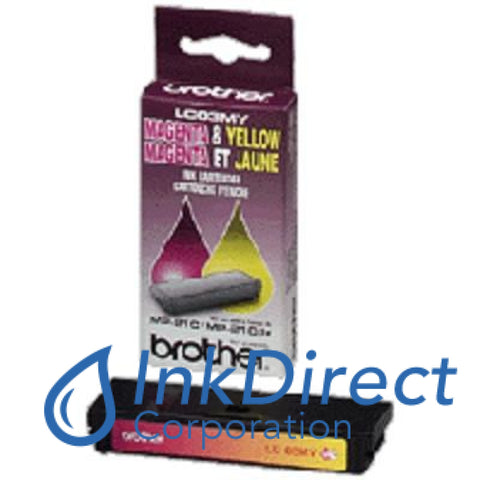 ( Expired ) Genuine Brother Lc03My Lc-03My Ink Jet Cartridge Magenta & Yellow