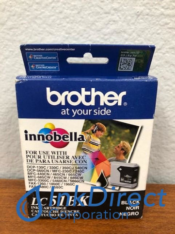 Expired) Genuine Brother LC51BK LC-51BK Ink Jet Cartridge Black Ink Jet Cartridge , Brother - All-in-One DCP 540CN, MFC 3360C, 440CN, 5460CN, 5860CN, 665CW, 845CW, - Ink Jet Fax IntelliFax 1360, 1860C, 1960C, 2480C, 2580C, - InkJet Printer DCP 130C, 330C, 350C, MFC 230C, 240C, 465CN, 685CN, 885CN,