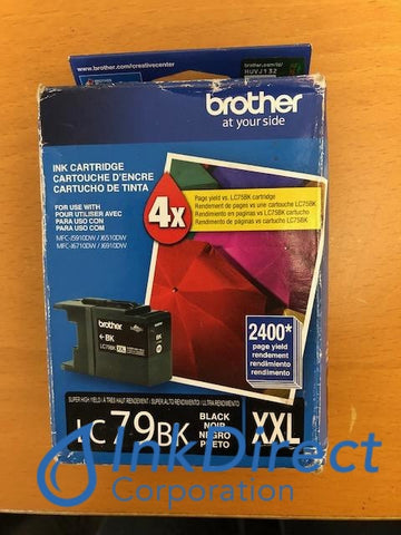 ( Expired ) Genuine Brother Lc79Bk Xxl Lc-79Bk Xxl Ink Jet Cartridge Black Ink Jet Cartridge