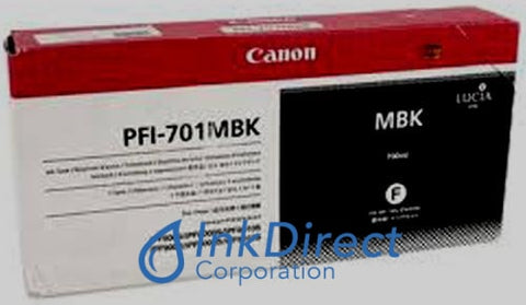 ( Expired ) Genuine Canon 0899B001Aa Pfi-701Mbk Ink Jet Cartridge Matt Black Ink Jet Cartridge , ImagePrograf IPF8000, IPF8000S, IPF9000, IPF9000S,
