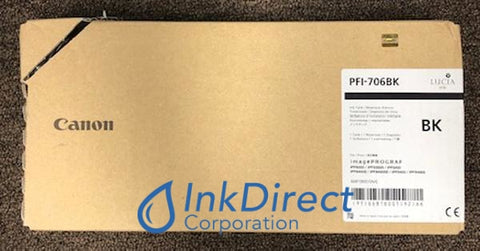 ( Expired ) Genuine Canon 6681B001Aa Pfi-706Bk Ink Jet Cartridge Black Ink Jet Cartridge