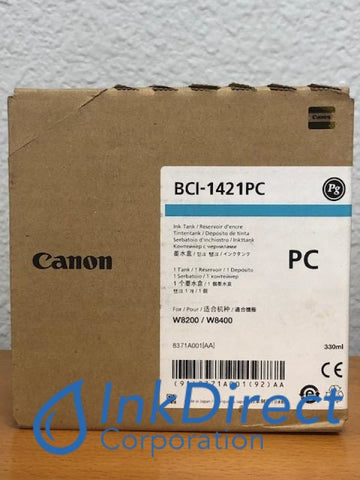 ( Expired ) Genuine Canon 8371A001AA BCI-1421PC Ink Tank Photo Cyan Ink Tank , Canon - Wide Format Printer ImagePrograf W8200PG, W8400