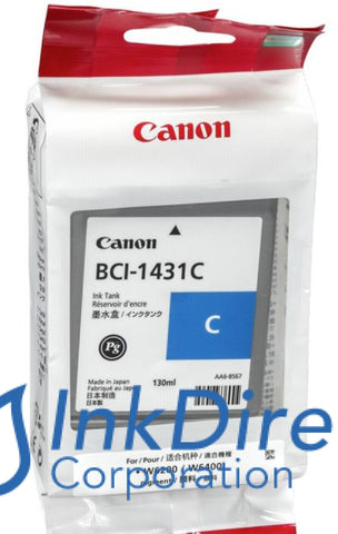( Expired ) Genuine Canon 8970A001Aa Bci-1431C Ink Jet Cartridge Cyan