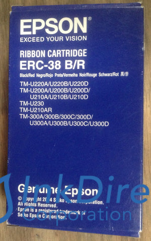 ( Expired ) Genuine Epson S015376 Erc38Br Erc-38Br Ribbon Ctg Black & Red