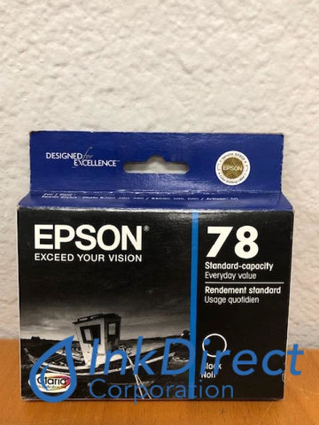 ( Expired ) Genuine Epson T078120 T0781 Epson 78 Ink Jet Cartridge Black Ink Jet Cartridge , Epson - All-in-One Artisan 50, - InkJet Printer Stylus Photo R260, R280, R380, RX580, RX595, RX680,