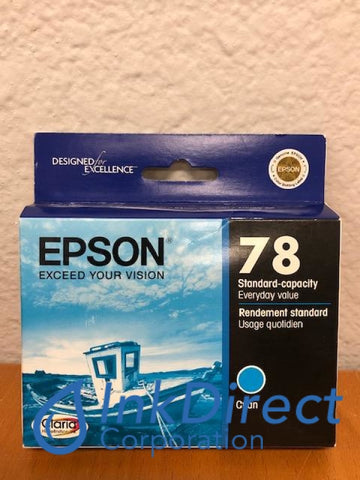 ( Expired ) Genuine Epson T078220 T0782 Epson 78 Ink Jet Cartridge Cyan Ink Jet Cartridge , Epson - All-in-One Artisan 50, - InkJet Printer Stylus Photo R260, R280, R380, RX580, RX595, RX680,