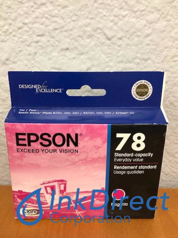 ( Expired ) Genuine Epson T078320 T0783 Epson 78 Ink Jet Cartridge Magenta Ink Jet Cartridge , Epson - All-in-One Artisan 50, - InkJet Printer Stylus Photo R260, R280, R380, RX580, RX595, RX680,