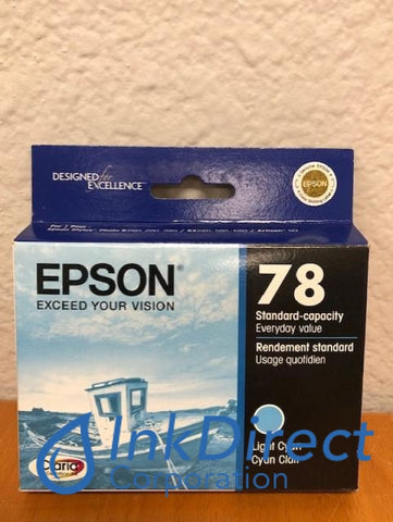 ( Expired ) Genuine Epson T078520 T0785 Epson 78 Ink Jet Cartridge Light Cyan Ink Jet Cartridge , Epson - All-in-One Artisan 50, - InkJet Printer Stylus Photo R260, R280, R380, RX580, RX595, RX680,