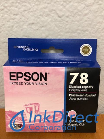 ( Expired ) Genuine Epson T078620 T0786 Epson 78 Ink Jet Cartridge Light Magenta Ink Jet Cartridge , Epson - All-in-One Artisan 50, - InkJet Printer Stylus Photo R260, R280, R380, RX580, RX595, RX680,