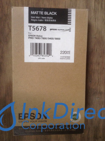 ( Expired ) Genuine Epson T567800 Ink Jet Cartridge Matt Black