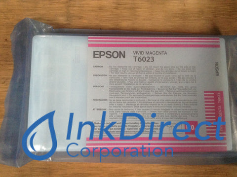 ( Expired ) Genuine Epson T602300 T6023 Ink Jet Cartridge Vivid Magenta - No Retail Box