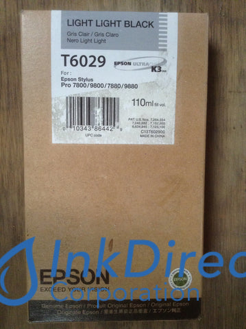 ( Expired ) Genuine Epson T602900 T6029 Ink Jet Cartridge Light Black