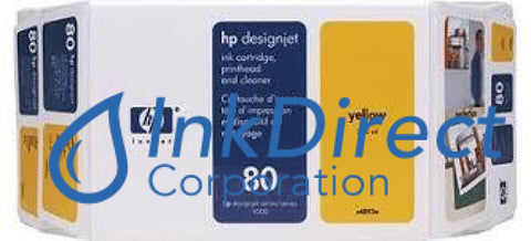 ( Expired ) Genuine Hp C4893A - Exp 80 Value Pack Inkjet/ Printhead Yellow