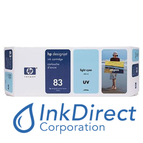 ( Expired ) Genuine Hp C4944A 83 Uv Ink Jet Cartridge Light Cyan