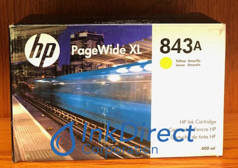 ( Expired ) HP C1Q60A 843A Ink Jet Cartridge Yellow PageWide XL 4000 MFP4500 MFP Ink Jet Cartridge , HP   - PageWide  XL 4000 MFP,  4000 Printer,  4500 MFP,  4500 Printer