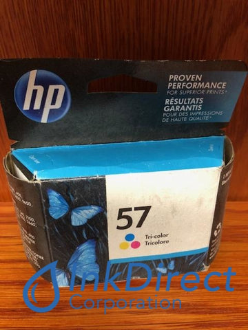 ( Expired ) HP C6657AN HP 57 Ink Jet Cartridge Color Ink Jet Cartridge , HP - Digital Copier 410, - Fax Inkjet Fax 1240, - InkJet Printer DeskJet 450, 450CI, 5150, 5550, 5650, 5850, 9650, 9670, 9680, - Multi Function OfficeJet 4110, 4215, 5505, 5510, 5610, 6110, PSC 1110, 1209, 1210, 1310, 1311, 1315, 1317, 1350, 2105, 2108, 2110, 2150, 2175, 2200, 2210, 2410, 2510, - Photo Printer PhotoSmart 130, 230, 7150, 7260, 7350, 7450, 7550, 7660, 7755, 7760, 7960,
