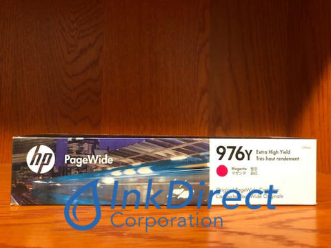 Expired) HP L0R06A 976Y Ink Jet Cartridge Magenta Ink Jet Cartridge , HP - Color LaserJet PageWide 377dw, PageWide Pro 300, 400, 452dn, 452dw, 452dwt, 477dn, 477dw, 500, 500dw, 577dw, 577z,