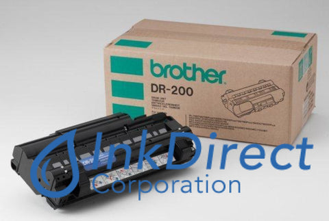 Genuine Brother Dr200 Dr-200 Drum Unit Black ( Brown Box )