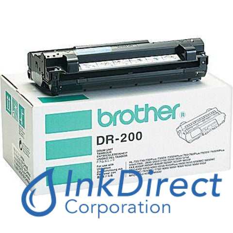 Genuine Brother Dr200 Dr-200 Drum Unit Black ( White Box )