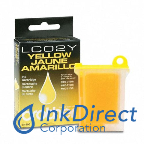 Genuine Brother Lc02Y Lc-02Y Ink Jet Cartridge Yellow