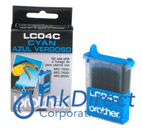 Genuine Brother Lc04C Lc-04C Ink Jet Cartridge Cyan