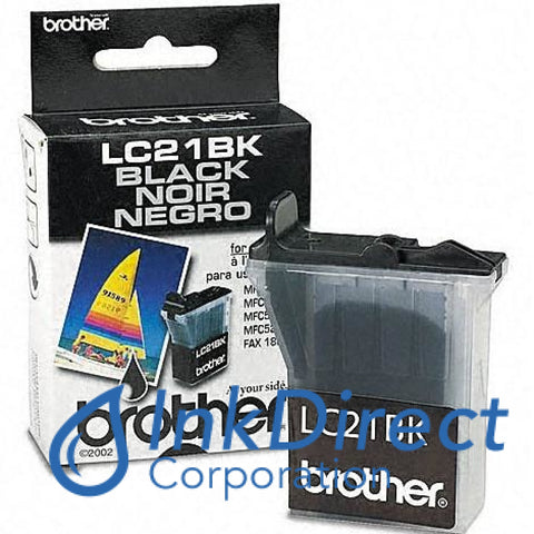 Genuine Brother Lc21Bk Lc-21Bk Ink Jet Cartridge Black