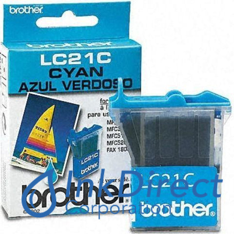 Genuine Brother Lc21C Lc-21C Ink Jet Cartridge Cyan