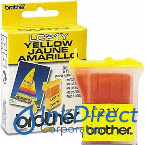 Genuine Brother Lc21Y Lc-21Y Ink Jet Cartridge Yellow