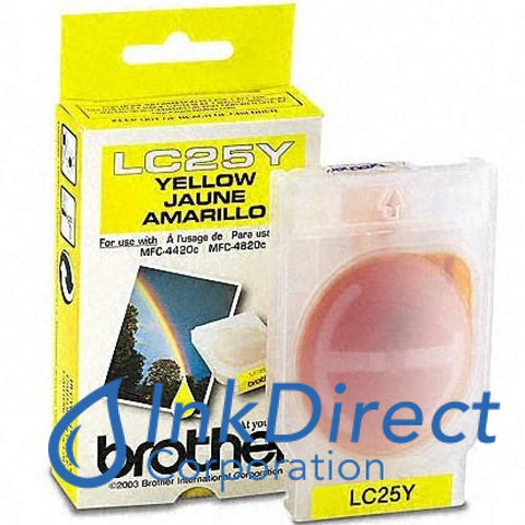 Genuine Brother Lc25Y Lc-25Y Ink Jet Cartridge Yellow