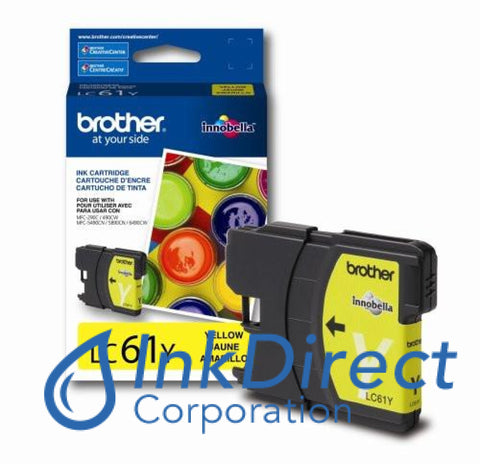 Genuine Brother Lc61Y Lc-61Y Ink Jet Cartridge Yellow