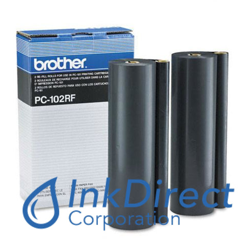 Genuine Brother Pc102Rf Pc-102Rf Ribbon Refill Black