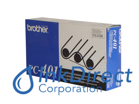 Genuine Brother Pc401 Pc-401 Ribbon Ctg Black