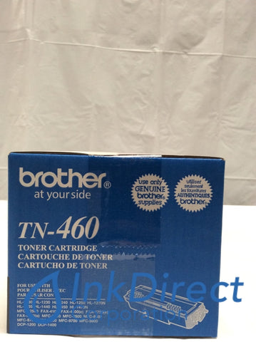 Genuine Brother TN460 TN-460 High Yield Toner Cartridge Black Toner Cartridge , Brother - MFC P2500, - All-in-One DCP 1200, 1400, - Fax IntelliFax 5750, 5750E, - Fax Laser IntelliFax 4100, 4750, 4750E, PPF 4100, 4100DT, 4100RF, 4750, 4750RF, 5750, - Laser Printer HL 1030, 1230, 1240, 1250, 1270N, 1430, 1435, 1440, 1440RF, 1450, 1470N, P2500, - Multi Function MFC 8300, 8500, 8500RF, 8600, 8700, 9600, 9700, 9700RF, 9800