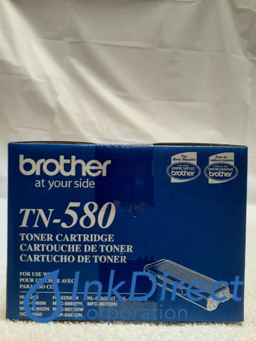 Genuine Brother TN580 TN-580 TN580 High Yield Toner Cartridge Black 5240 5250 8060 8065 8460 8860 Toner Cartridge