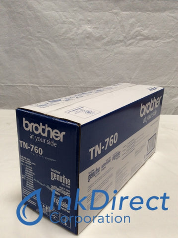 Genuine Brother TN760 TN-760 Toner Cartridge Black DCP L2550DW HL L2350DW L2370DW L2370DW XL L2390DW L2395DW MFC L2710DW L2750DW L2750DW XL