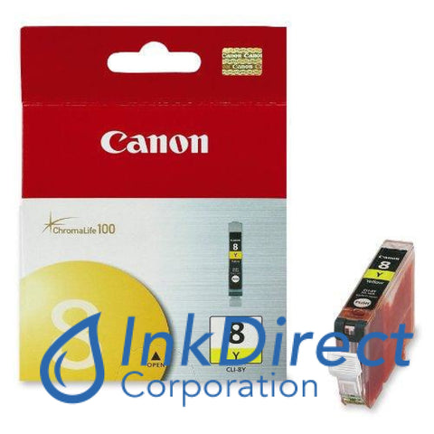 Genuine Canon 0623B002Aa Cli-8Y Ink Jet Cartridge Yellow