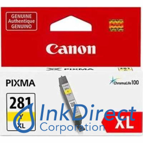 Genuine Canon 2036C001 2036C001Aa Cli-281Xl Y Ink Jet Cartridge Yellow