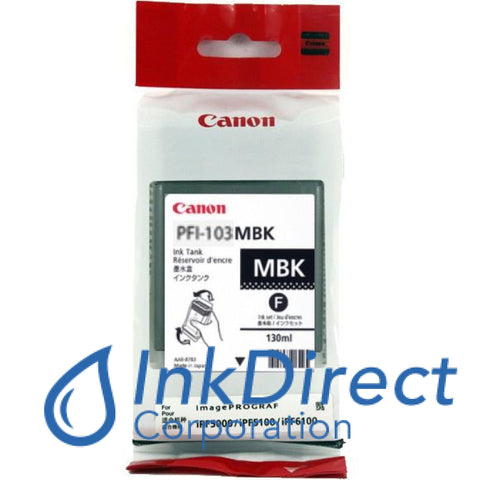 Genuine Canon 2211B001Aa Pfi-103Mbk Ink Tank Matt Black