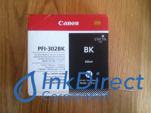Genuine Canon 2216B001Aa Pfi-302Bk Ink Jet Cartridge Black