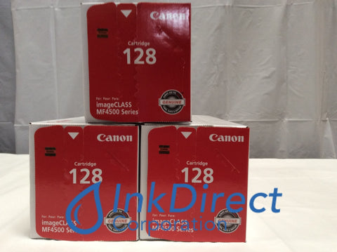 Genuine Canon 3500B001AA Canon 128 Toner Cartridge Black ( lot of 3 ) Laser Fax L100 L190 ImageClass D520 D530 D550 D560 MF4412 MF4420N