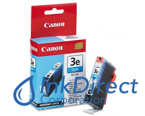 Genuine Canon 4480A003Aa Bci-3Ec Ink Jet Cartridge Cyan