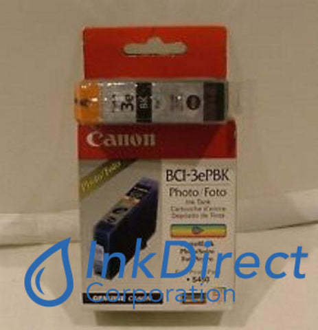 Genuine Canon 4485A003Aa Bci-3Epbk Ink Jet Cartridge Photo Black
