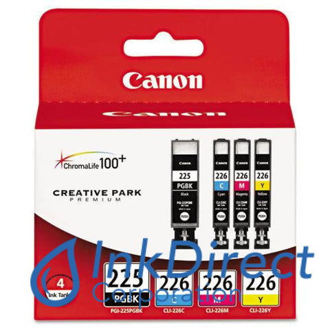 Genuine Canon 4530B008Aa Pgi-225Pgbk & Cli-226 (C/m/y) Ink Jet Cartridge Black Color