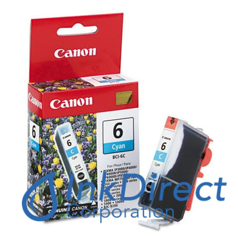Genuine Canon 4706A04Ac Bci-6C Ink Jet Cartridge Cyan