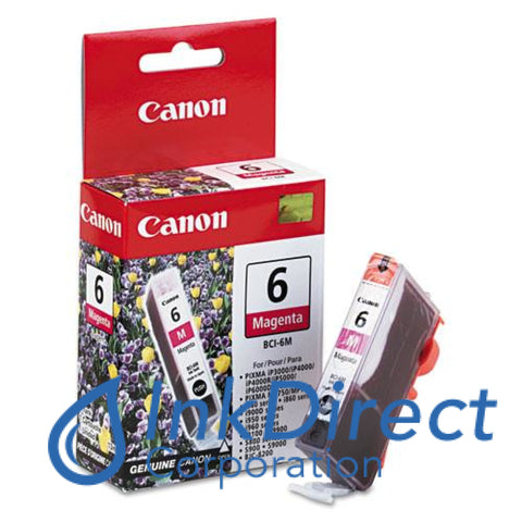 Genuine Canon 4707A003Aa Bci-6M Ink Jet Cartridge Magenta