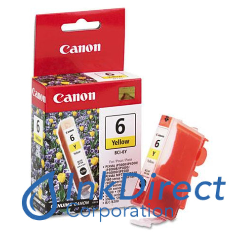 Genuine Canon 4708A003Aa Bci-6Y Ink Jet Cartridge Yellow