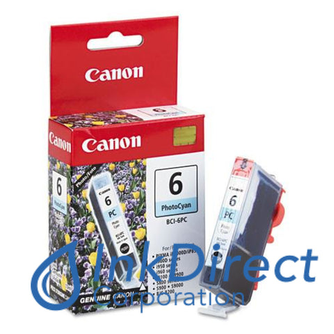 Genuine Canon 4709A003Aa Bci-6Pc Ink Jet Cartridge Photo Cyan